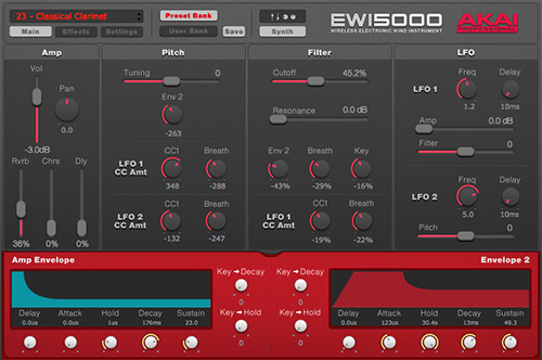 EWI5000 EWI5000サウンド・エディタ 専用のサウンド・エディタ・ソフトウエア(ダウン